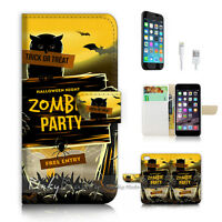 ( For iPhone 7 ) Wallet Case Cover P2279 Zombie Party