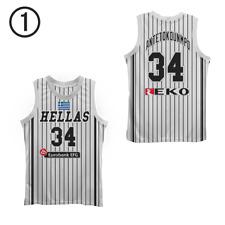 Giannis Anteto 34 Greece Basketball Jersey stripe stitch Sewn Size Greece