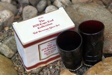 Vintage Avon Cape Cod Ruby Red Tall Beverage Glasses -- Set of 2