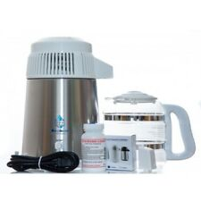 Megahome Deluxe agua destilador con Jarra de Cristal en Blanco UK 3 Pin Enchufe