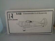REPLICA DIFFUSION Resin 1:48 Scale Kit -  Commonwealth CA-12 Boomerang Aircraft