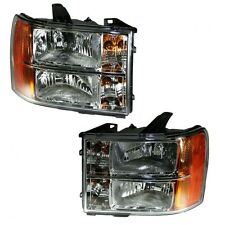 2007 - 2013 GMC SIERRA HEAD LAMP LIGHT PAIR LEFT AND RIGHT SET