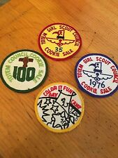 Vintage Set of Girl Scout Cookie Patch Patches Camp Girl Scouts
