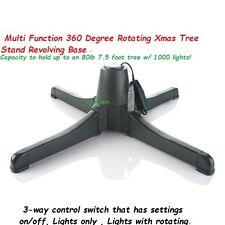 "Multi Function 360 Degree Rotating Christmas Tree Stand Revolving Base 7.5"""