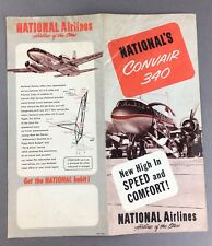 NATIONAL AIRLINES CONVAIR 34O BROCHURE WITH SEAT MAP