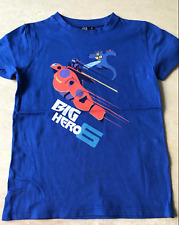 "T-SHIRT ""DISNEY - BIG HERO"" BLEU - TAILLE : 6 ANS"