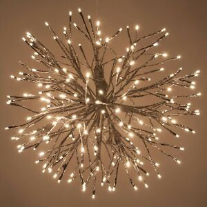 Silver Starburst LED Lighted Twig Branches Home Decorations, Twinkle Lights