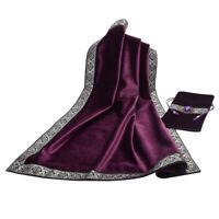 Classic Tarot Card Table Cloth Divination Soft Wicca Velvet Pouch Purple