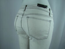 J BRAND 8112 Mid Rise RAIL SKINNY Destroyed Woman Jeans SZ 24 IN HYSTERIA WHITE