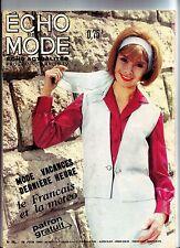 echo de la mode - juin 1964 - echo actualités tv radio
