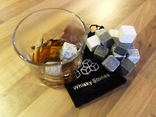 whiskey Stones Ice Cube Drinks Cooler Scotch On The Rocks Granite UK