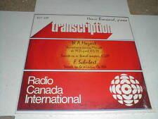 HENRI BRASSARD Piano RADIO CANADA Schubert SEALED LP Classical MOZART M- CD
