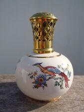Lampe berger décor oiseau huppé fleurs Made in France
