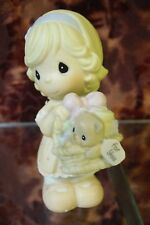 """Precious Moments-#0000382 """"Give With A Grateful Heart"""" -Girl w/Teddy Bear - NEW"""