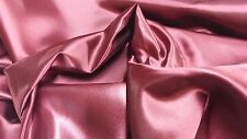"1 YARD BEAUTIFUL SHINY BRIDAL SATIN 58""- 60"" HEAVY WEIGHT FABRIC  - BURGUNDY"