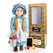 Little House MARY INGALLS 18 INCH DOLL with Blue Outfit, Lunchpail & Chalkboard