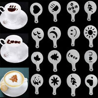 64PCS Plastic Coffee Stencil Barista Cake Decorating Stencil Hollow Baking