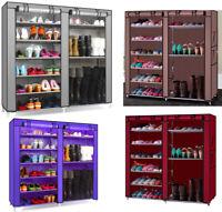 Home Shoe Boot Rack Shelf Storage Closet Organizer Cabinet 9 Grid W/ Cover New