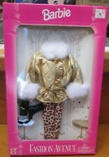 1995 NEW IN BOX~*BARBIE* FASHION AVENUE COLLECTION~14980~GOLDEN 4 PC.OUTFIT+BOOK