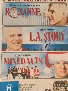 Roxanne / L.A Story / Mixed Nut  Steve Martin DVD  Like New