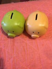 Vintage Ceramic Piggy Banks Pair Of 2