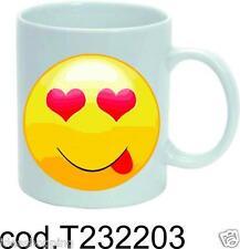 tazza mug in ceramica con smile love emotion sorriso regalo compleanno festa