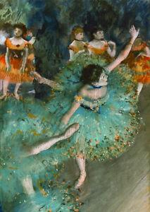 Edgar Degas Dancer in Green (1879) Swaying Dancer ballerina wall art print