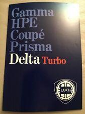 FOLLETO de coche Lancia Delta-c1984