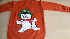 "New Hand Knitted Rust/Orange Christmas Xmas Jumper 38/40"""