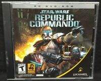 Star Wars Republic Commando Lucasarts - PC Game CD ROM Disc, Case Mint Disc