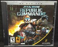Star Wars Republic Commando Lucasarts - PC Game CD ROM Disc, Case Mint Disc