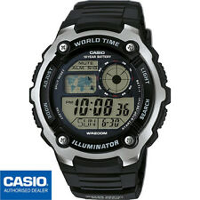 CASIO AE-2100W-1AVEF*AE-2100W-1A*ORIGINAL*WORLD TIME*NEGRO*SUMERGIBLE