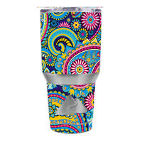 Skin Decal for Ozark Trail 30 oz Tumbler Cup (6-piece kit) / Colorful Paisley M