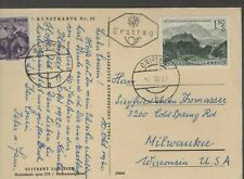 Austria 1960 First Day Cover Picture Post Card Mountains Griffin Carinthia