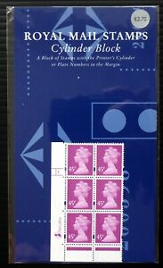 GB Machin 45p 2000 Stamp Show RARE Vertical Format Cyl Block Pres Pack DM74
