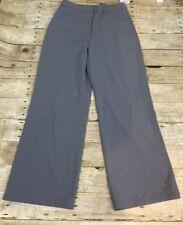 J Jill Womens Art Craft Gray Stretch Flat Front Dress Pants Boot Cut NWT