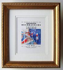 """Raoul DUFY Exhibition Poster """"Salon des Artistes Décorateurs"""" Framed SIGNED COA"""