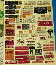 HO 1:87 Railroad Train CUT & PEEL STICKERS, BUILDING SIGNS, FARMALL TRACTOR SEXY