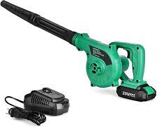 Cordless Leaf Blower - 20V 2.0 Ah Lithium Battery 2in1 Sweeper / Vacuum