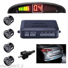 Car LED Display Reversing 4 Parking Sensor Radar System Audio Buzzer Alarm Black