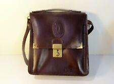Must de Cartier sacoche pochette en cuir bordeaux