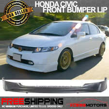 06-08 Civic 4Door Front Bumper Lip Spoiler Urethane 06 07 08