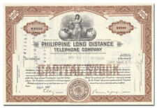 New listing Philippine Long Distance Telephone Company Stock Certificate