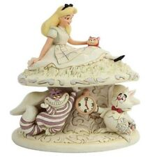 Jim Shore Disney Traditions White Woodland Alice Wonderland Figurine 6005957 New