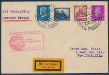 Katapultflug Dampfer Bremen 5.6.1932 Seepost nach New York (S18526)