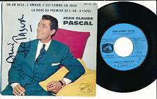 """JEAN-CLAUDE PASCAL EP 7"""" FRANCE (COVER AZNAVOUR VAUCAIRE DUMONT) ***DEDICACé***"""