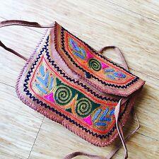 Top Grain Goat Leather Ladies Shoulder Bag Girls Bag GIFT Hand Embroidered