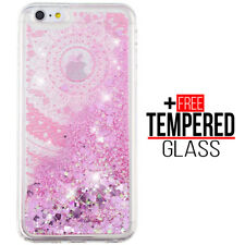 Pour iPhone 6 6S Liquide Glitter Bling Cas Soft Silicone Gel Shockproof Cover