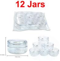 12 Pieces 15 Gram/1/2oz High Quality Lip Balm Lotion Cream Sample Jar Containers