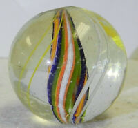 12101m Beautiful 5 Color Divided Ribbon Swirl German Handmade Marble 1.05 Inches